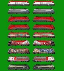 Werbeloks der Baureihe 1116