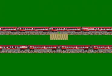 """Railjet-Wagen """"Die längste Fahne Österreichs"""""""