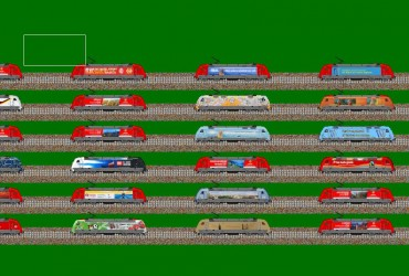 Werbeloks der Baureihe 101 Gesamt Packet