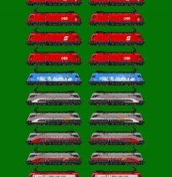 Werbeloks der Baureihe 1016